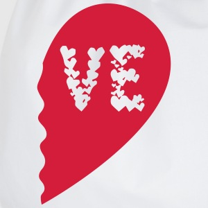 Valentine Heart Love Wedding Marriage half boy T-Shirts - Drawstring Bag