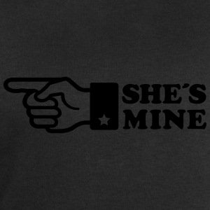 Finger She is mine! girlfriend like hands gift fun T-Shirts - Men's Sweatshirt by Stanley & Stella