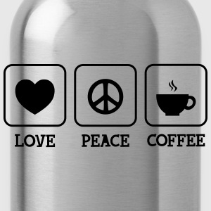 Love, Peace, Coffee T-shirts - Drinkfles