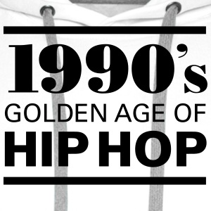 1990´s - Golden Age Of Hip Hop Tee shirts - Sweat-shirt à capuche Premium pour hommes
