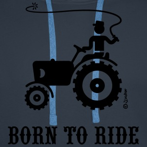 Born To Ride (Trecker) T-Shirt - Männer Premium Hoodie