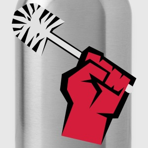 Riot with toilet brush T-Shirts - Water Bottle