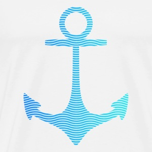 anchor of waves and sea ancre de vagues et de la mer Sacs et sacs à dos - T-shirt Premium Homme