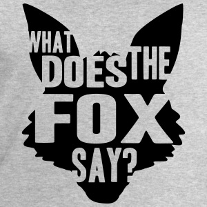 What Does The Fox Say Logo Design T-Shirts - Men's Sweatshirt by Stanley & Stella