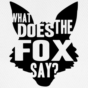 What Does The Fox Say Logo Design T-shirts - Basebollkeps