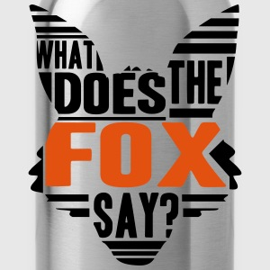 Cool What Does The Fox Say Logo T-Shirts - Water Bottle