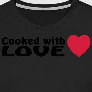 cooked with love  Aprons - Men's Premium Longsleeve Shirt