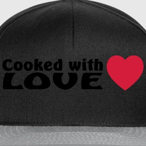 cooked with love  Aprons - Snapback Cap