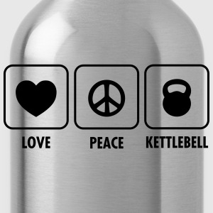 Love, Peace, Kettlebell T-Shirts - Water Bottle