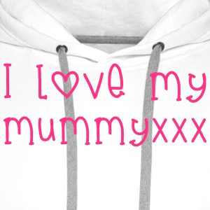 l Love Mummy Shirts - Men's Premium Hoodie