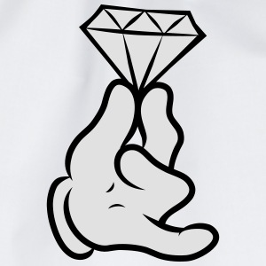 Comic Hand With Diamond  T-shirts - Sportstaske