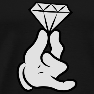 Comic Hand With Diamond  Sweat-shirts - T-shirt Premium Homme