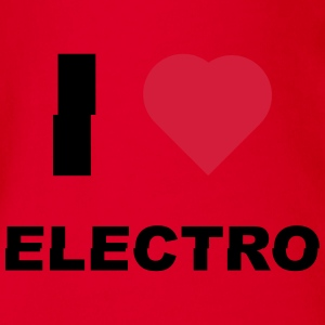 I love electro sound Shirts - Organic Short-sleeved Baby Bodysuit