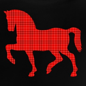 proud horse Tartan Pattern plaid trots paard tartan patroon plaid Shirts - Baby T-shirt