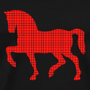 proud horse Tartan Pattern plaid Bags & backpacks - Men's Premium T-Shirt