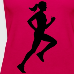 running woman T-Shirts - Frauen Premium Tank Top