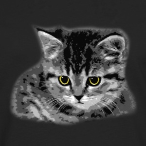 Cat - Yellow Eyes Shirts - Men's Premium Longsleeve Shirt
