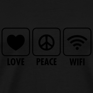 Love, Peace, WIFI Long sleeve shirts - Men's Premium T-Shirt