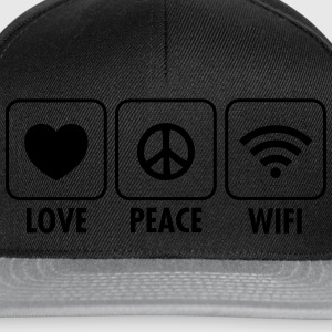 Love, Peace, WIFI Long sleeve shirts - Snapback Cap
