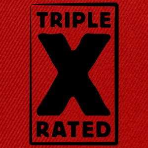 triple x rated Tee shirts - Casquette snapback