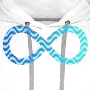 infinity from waves and sea infini de vagues et de la mer Tee shirts - Sweat-shirt à capuche Premium pour hommes
