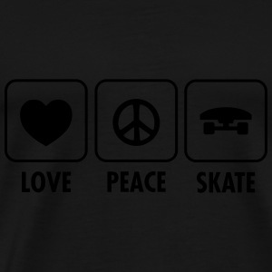 Love, Peace, Skate Sweat-shirts - T-shirt Premium Homme