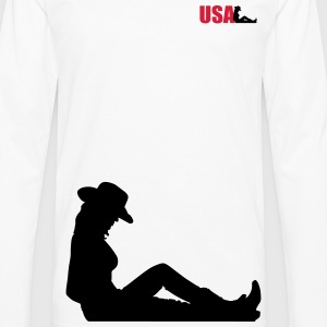 usa woman T-Shirts - Men's Premium Longsleeve Shirt