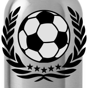 Wreath world champion football soccer laurel ball  T-Shirts - Water Bottle