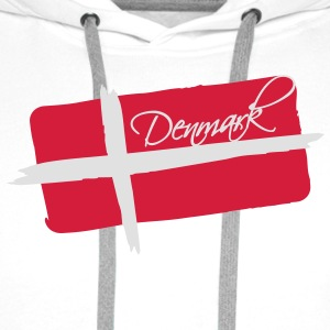 Denmark Flag Design T-Shirts - Men's Premium Hoodie