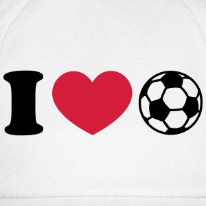 Soccer Football Heart I like love world champion  T-Shirts - Baseball Cap