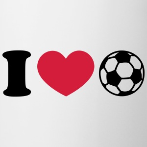 Soccer Football Heart I like love world champion  T-Shirts - Mug