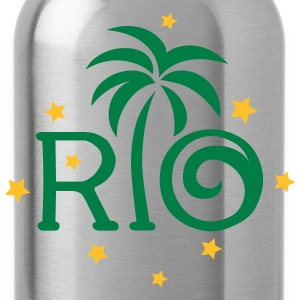 RIO Brazil Palm Star Football World Cup Champion T-Shirts - Water Bottle