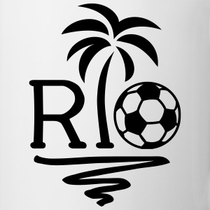 RIO Brazil Palm Champion Star Football World Cup  T-Shirts - Mug