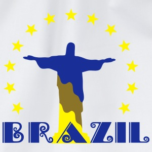 Brazil Brasil Christ star football world champion T-Shirts - Drawstring Bag