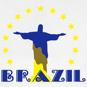 Brazil Brasil Christ star football world champion T-Shirts - Baseball Cap