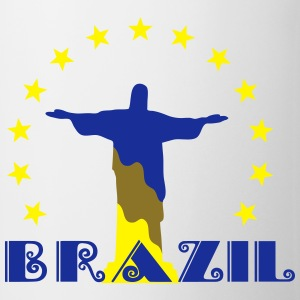 Brazil Brasil Christ star football world champion T-Shirts - Mug