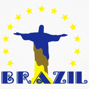 Brazil Brasil Christ star football world champion T-Shirts - Men's Premium Longsleeve Shirt