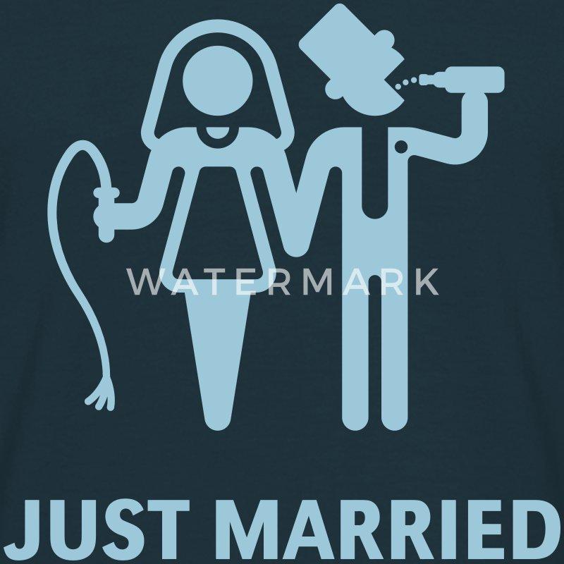 Just Married (Whip and Beer) T-Shirts - Men's T-Shirt