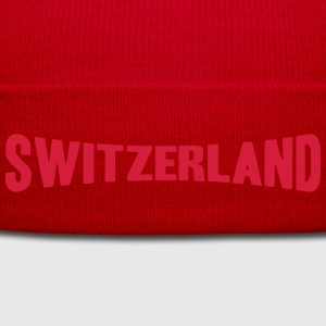 Switzerland Text Logo T-Shirts - Winter Hat
