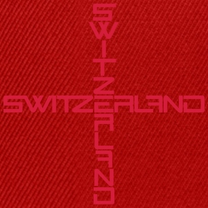 Switzerland Cross Design T-Shirts - Snapback Cap