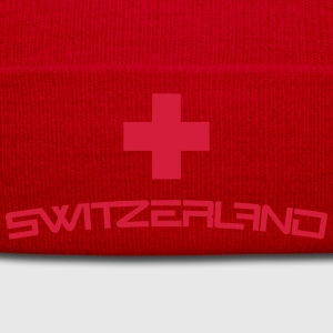 Cool Switzerland Cross Design T-Shirts - Winter Hat