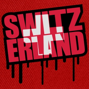 Switzerland Stamp Design T-Shirts - Snapback Cap