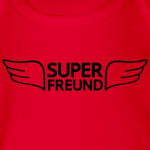 Super Freund T-Shirts - Baby Bio-Kurzarm-Body