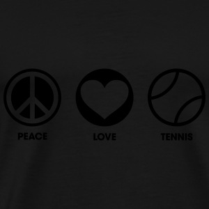 Peace Love Tennis Sweat-shirts - T-shirt Premium Homme