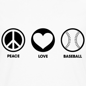 Peace Love Baseball Sweat-shirts - T-shirt manches longues Premium Homme