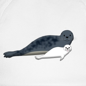 Seal with Baby F Sweat-shirts - Casquette classique