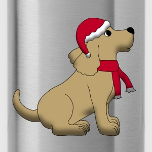 christmas dog E Accessories - Water Bottle