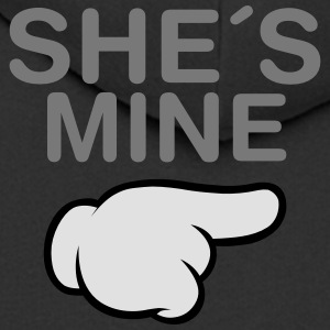 She´s Mine (Comic Hand) T-Shirts - Men's Premium Hooded Jacket
