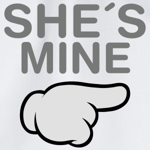 She´s Mine (Comic Hand) Hoodies & Sweatshirts - Drawstring Bag
