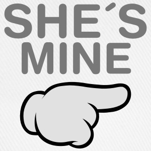 She´s Mine (Comic Hand) Felpe - Cappello con visiera
